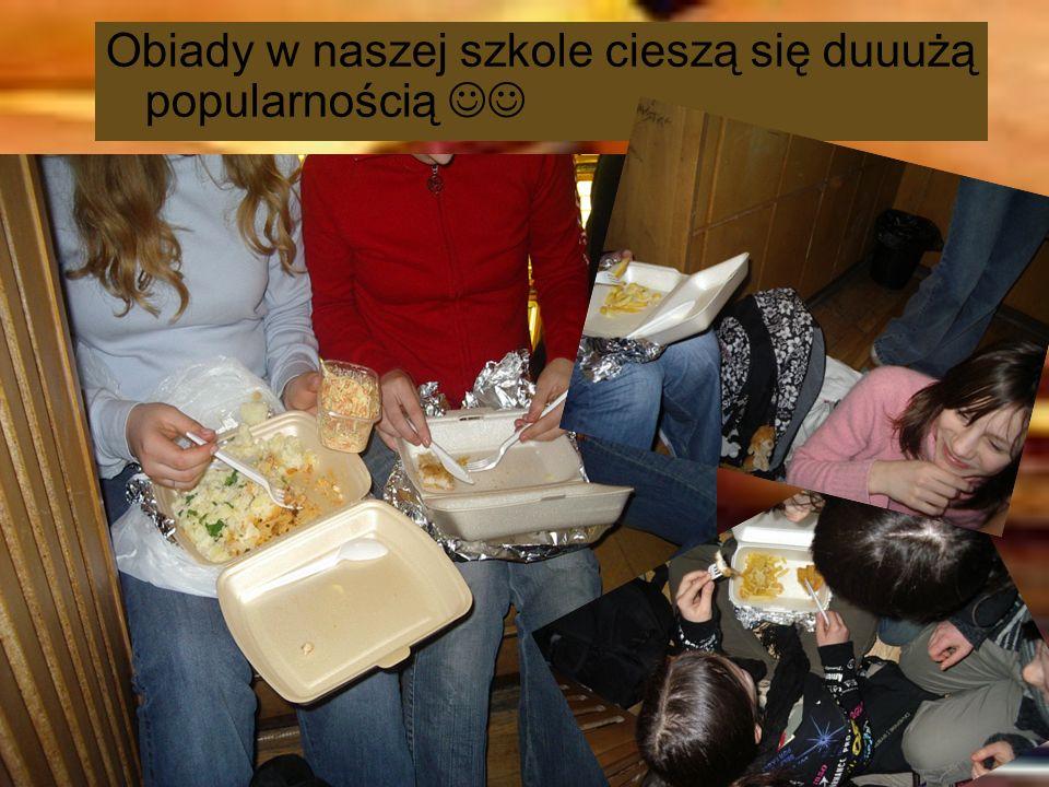 Obiady w naszej szkole cieszą się duuużą popularnością