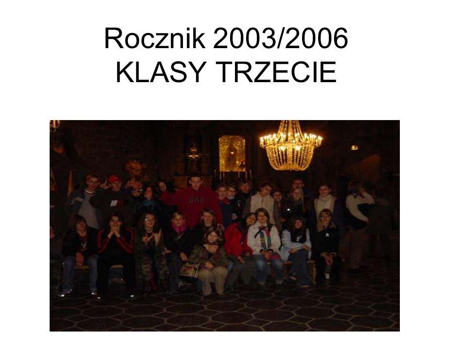 Rocznik 2003/2006 KLASY TRZECIE