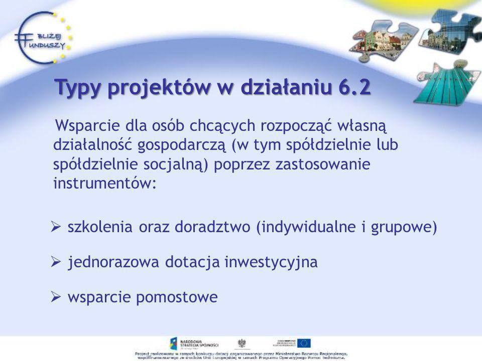 1)Osoba zainteresowana musi zgłosić się do Wojewódzkiego Urzędu Pracy w e Wrocławiu (Wydziału Wdrażania EFS) 2) Znajdzie tu informacje na temat instytucji organizujących wsparcie, które będą świadczyły pomoc 3) Osoba zainteresowana musi zgłosić się do instytucji organizującej wsparcie, tzw.