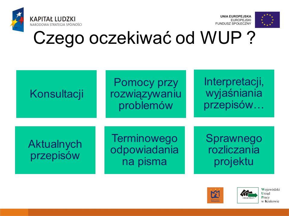 Czego oczekiwać od WUP .