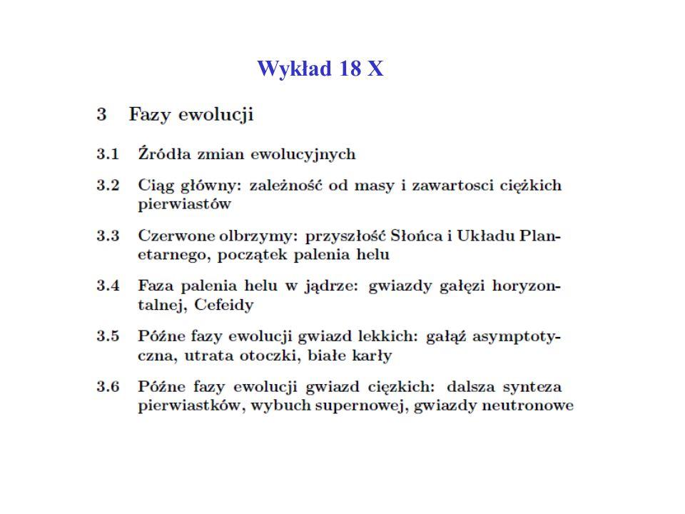 Wykład 18 X