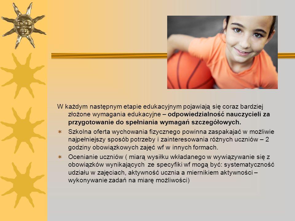 W każdym następnym etapie edukacyjnym pojawiają się coraz bardziej złożone wymagania edukacyjne – odpowiedzialność nauczycieli za przygotowanie do spe