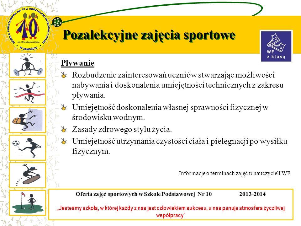 Pozalekcyjne zajęcia sportowe Zajęcia sportowe ukierunkowane – przygotowujące do zawodów sportowych.