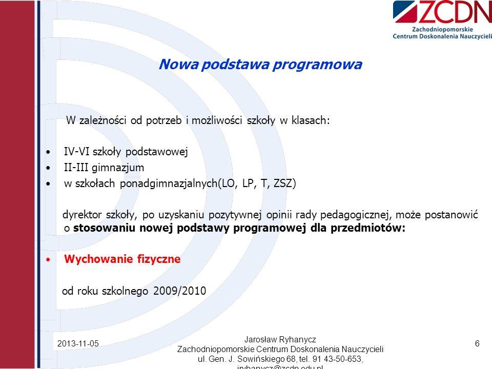Nowa podstawa programowa Co nowego w sprawie jakości WF.