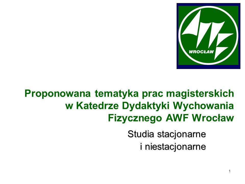 2 Prof.dr hab. Tadeusz Koszczyc Dr hab. Ryszard Bartoszewicz, prof.