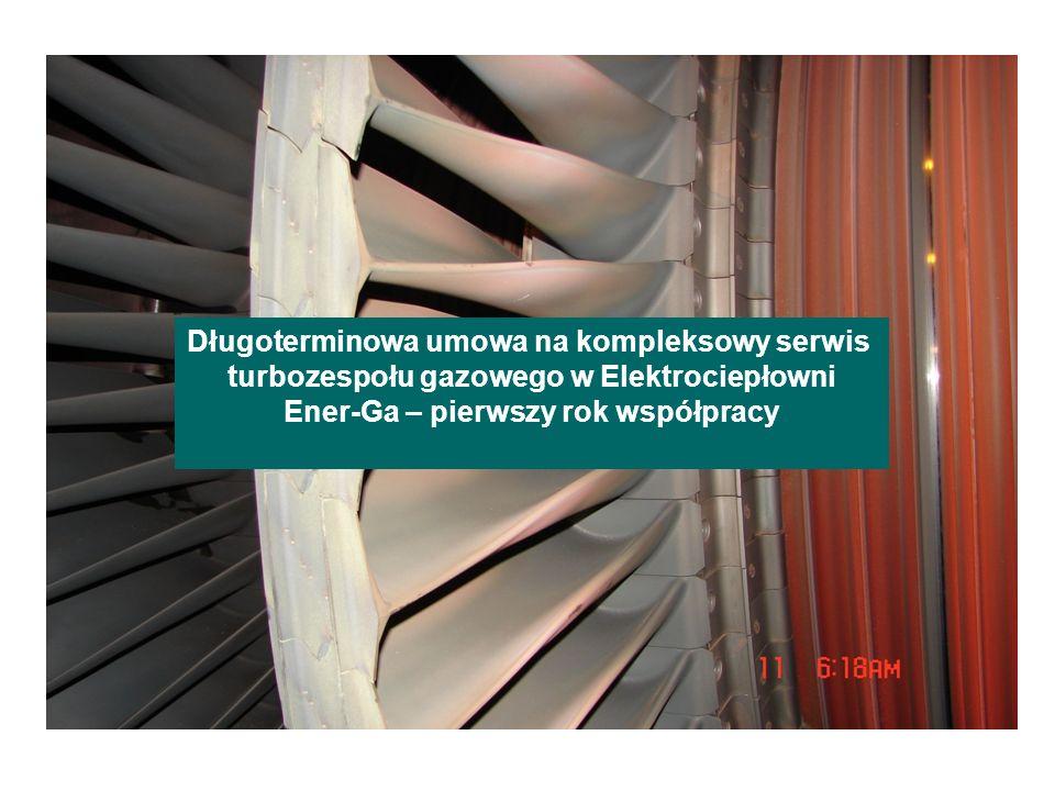 Długoterminowa umowa na kompleksowy serwis turbozespołu gazowego w Elektrociepłowni Ener-Ga – pierwszy rok współpracy