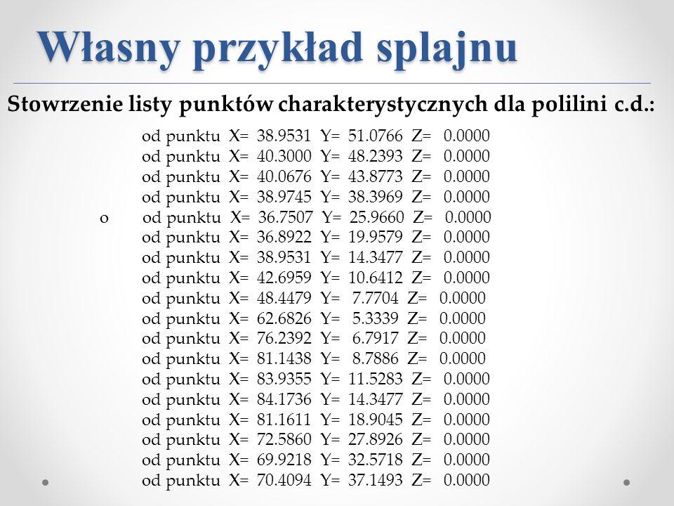 od punktu X= 38.9531 Y= 51.0766 Z= 0.0000 od punktu X= 40.3000 Y= 48.2393 Z= 0.0000 od punktu X= 40.0676 Y= 43.8773 Z= 0.0000 od punktu X= 38.9745 Y=