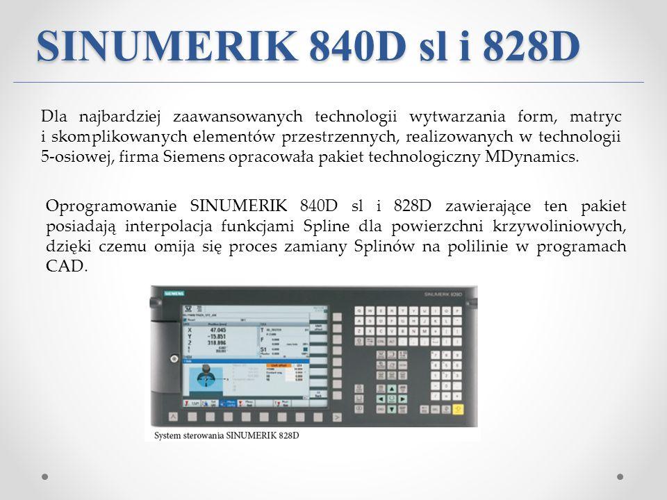 SINUMERIK 840D sl i 828D Dla najbardziej zaawansowanych technologii wytwarzania form, matryc i skomplikowanych elementów przestrzennych, realizowanych