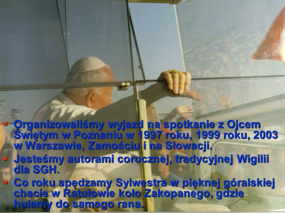 Organizowaliśmy wyjazd na spotkanie z Ojcem Świętym w Poznaniu w 1997 roku, 1999 roku, 2003 w Warszawie, Zamościu i na Słowacji.