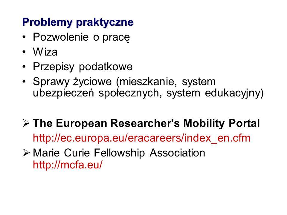 Problemy praktyczne Pozwolenie o pracę Wiza Przepisy podatkowe Sprawy życiowe (mieszkanie, system ubezpieczeń społecznych, system edukacyjny) The Euro