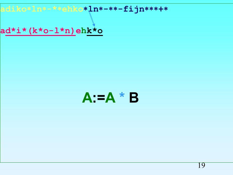 adiko ln -* ehko ln - -fijn + ad*i*(k*o-l*n)ehko Przepisywanie symboli 18