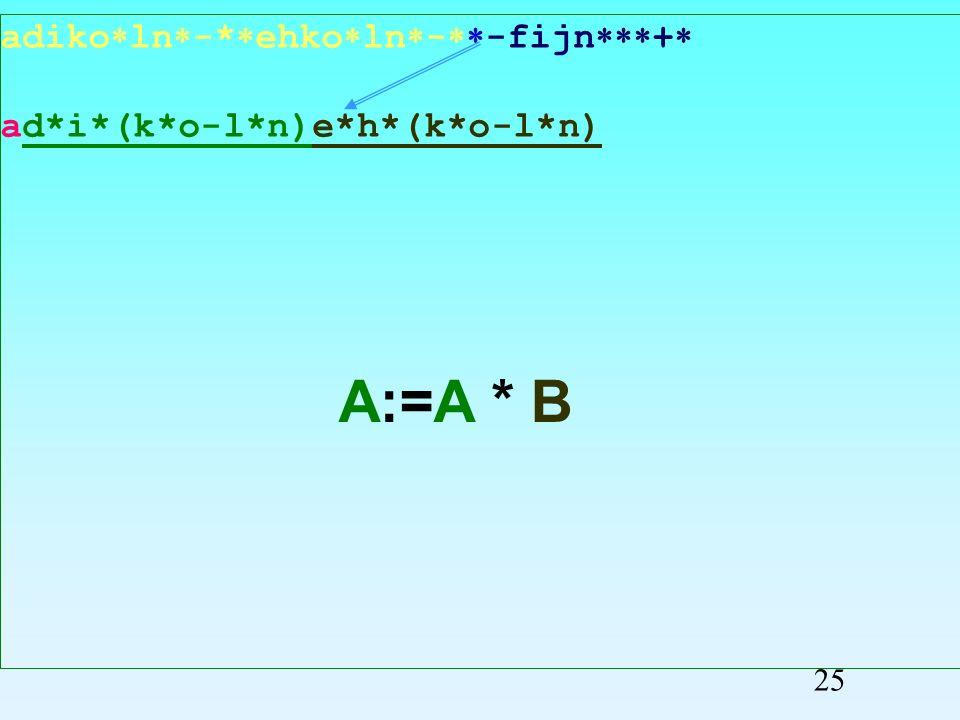 adiko ln -* ehko ln - -fijn + ad*i*(k*o-l*n)eh*(k*o-l*n) Przepisywanie symboli 24