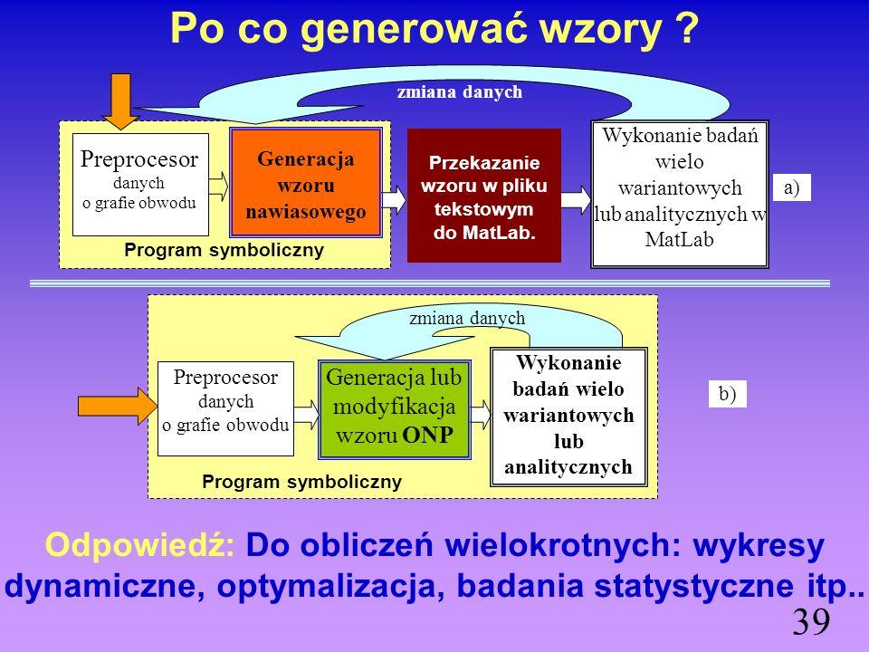 Przykład generowania wzorów w ONP i nawiasowego 38