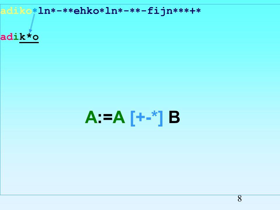 adiko ln - ehko ln - -fijn + adiko Przepisywanie symboli 7