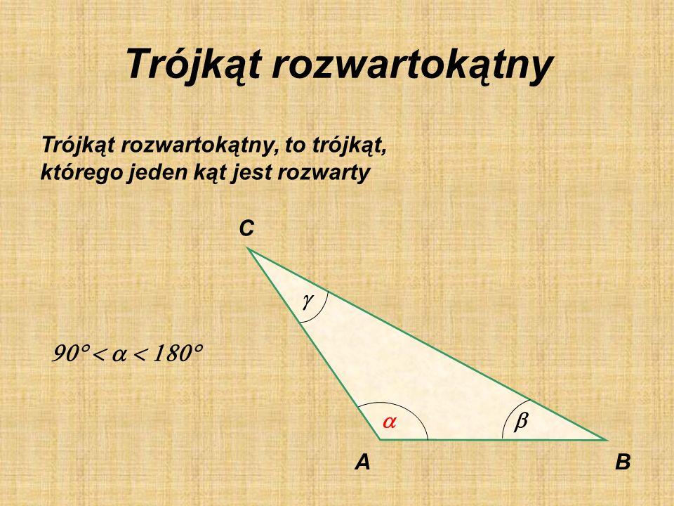 Trójkąt prostokątny Trójkąt prostokątny, to trójkąt, którego jeden kąt jest prosty. AB C BAC | = 90