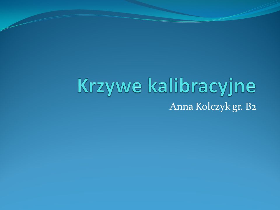 Anna Kolczyk gr. B2