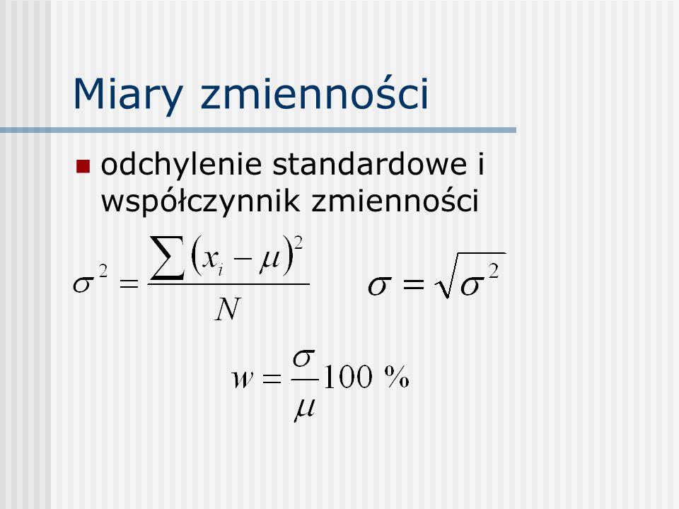 Miary zmienności odchylenie standardowe i współczynnik zmienności