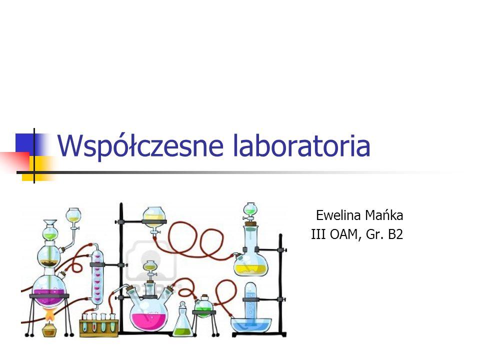 Współczesne laboratoria Ewelina Mańka III OAM, Gr. B2