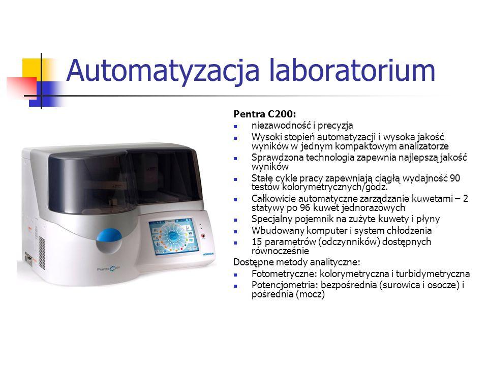 Automatyzacja laboratorium Pentra C200: niezawodność i precyzja Wysoki stopień automatyzacji i wysoka jakość wyników w jednym kompaktowym analizatorze