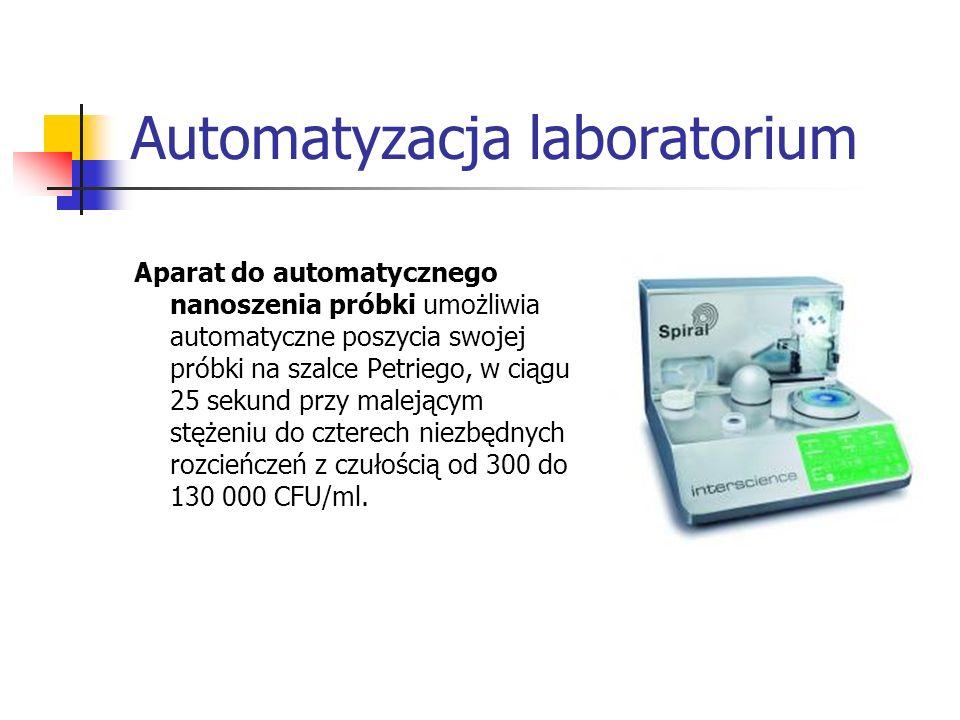 Automatyzacja laboratorium Aparat do automatycznego nanoszenia próbki umożliwia automatyczne poszycia swojej próbki na szalce Petriego, w ciągu 25 sek
