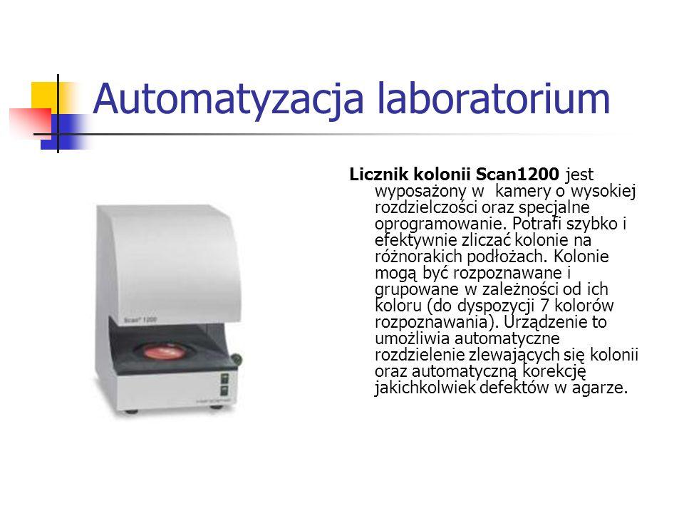 Automatyzacja laboratorium Licznik kolonii Scan1200 jest wyposażony w kamery o wysokiej rozdzielczości oraz specjalne oprogramowanie. Potrafi szybko i