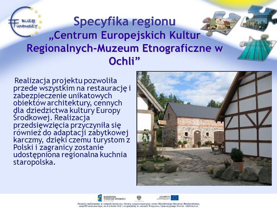 Realizacja projektu pozwoliła przede wszystkim na restaurację i zabezpieczenie unikatowych obiektów architektury, cennych dla dziedzictwa kultury Euro