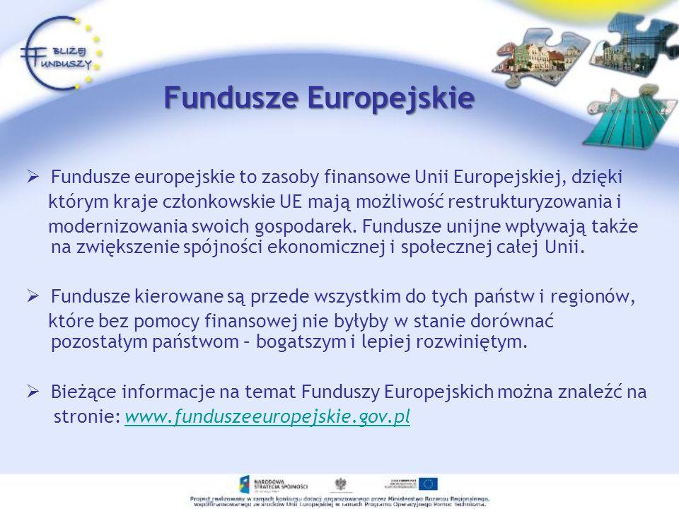 Skąd pozyskać środki .Z Europejskiego Funduszu Społecznego.