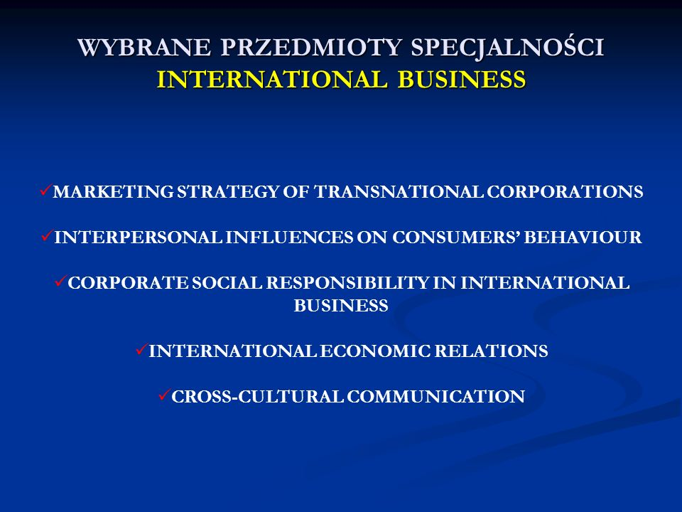 MARKETING STRATEGY OF TRANSNATIONAL CORPORATIONS INTERPERSONAL INFLUENCES ON CONSUMERS BEHAVIOUR CORPORATE SOCIAL RESPONSIBILITY IN INTERNATIONAL BUSI