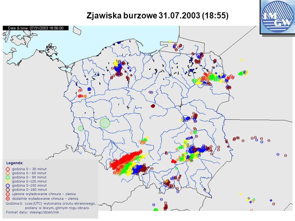 OBSERVATION NETWOK Zjawiska burzowe 31.07.2003 (18:55)