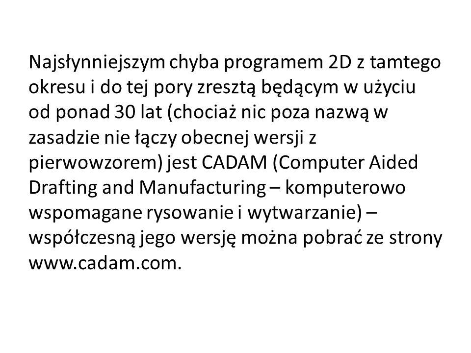 Najsłynniejszym chyba programem 2D z tamtego okresu i do tej pory zresztą będącym w użyciu od ponad 30 lat (chociaż nic poza nazwą w zasadzie nie łącz