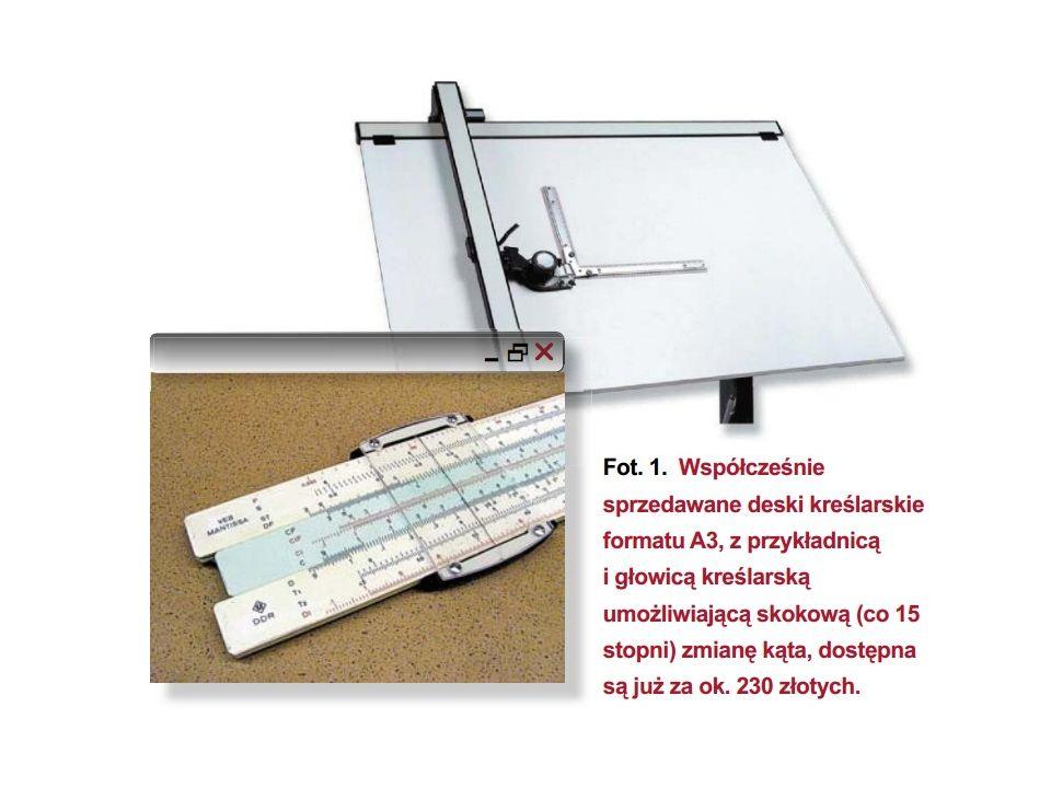 Równolegle z rozwojem przyrządów kreślarskich, następował rozwój urządzeń do wykonywania obliczeń matematycznych.