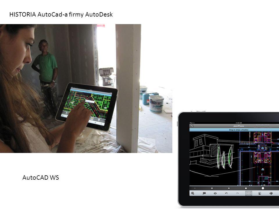HISTORIA AutoCad-a firmy AutoDesk AutoCAD WS