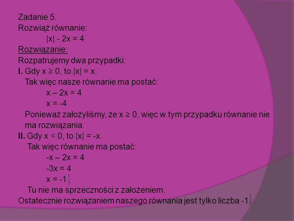 Zadanie 5. x + 3 POWRÓT