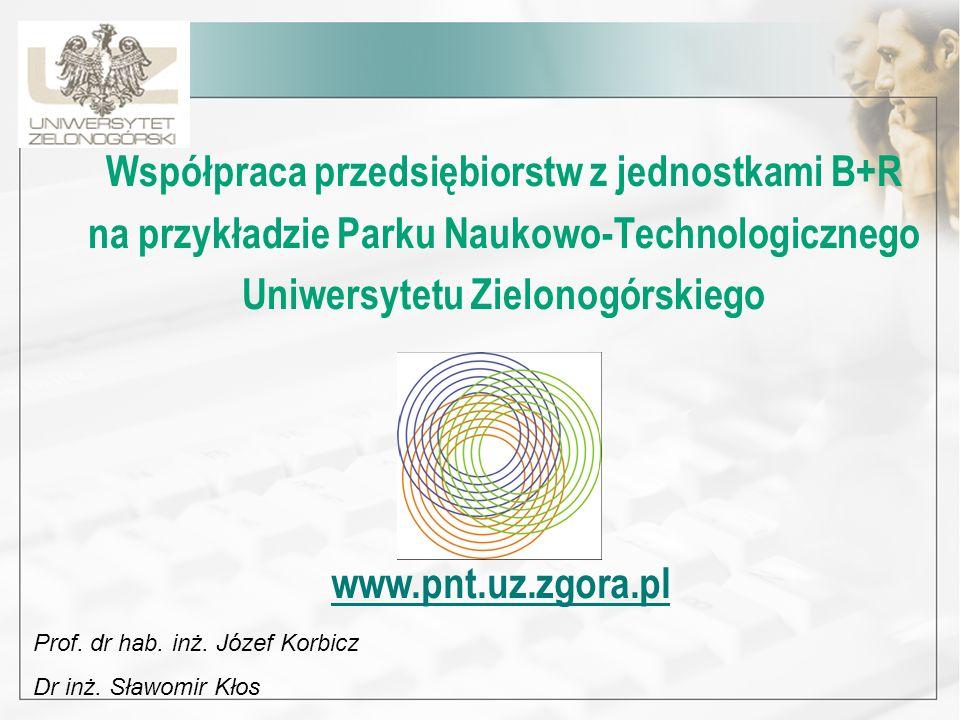 Współpraca przedsiębiorstw z jednostkami B+R na przykładzie Parku Naukowo-Technologicznego Uniwersytetu Zielonogórskiego Prof. dr hab. inż. Józef Korb