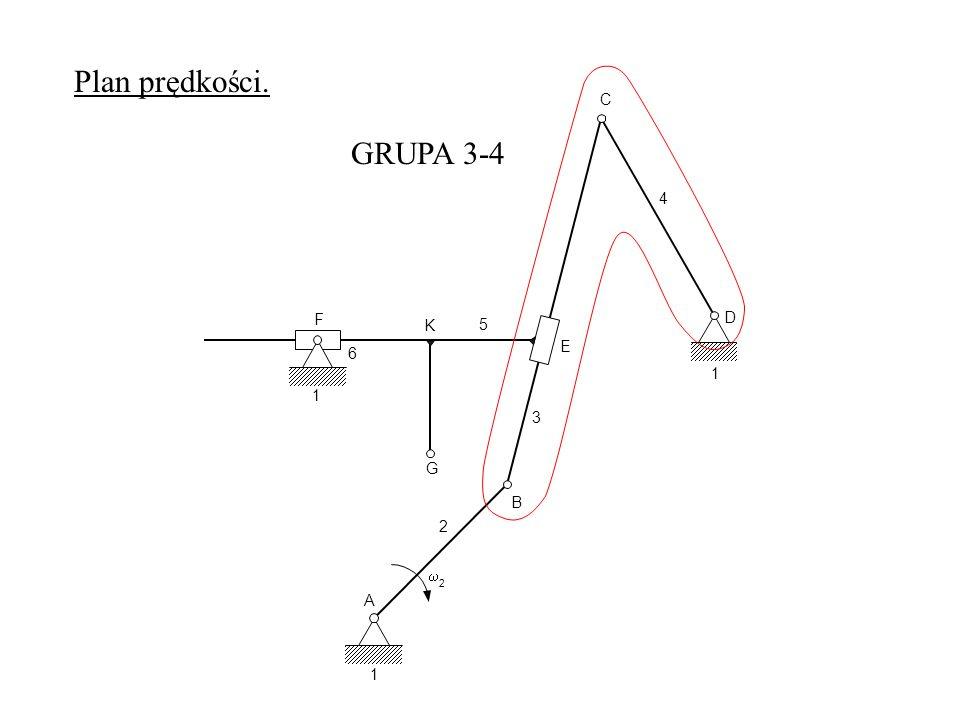 A 1 2 2 B G K 3 E F 6 1 C D 4 5 1 GRUPA 3-4 Plan prędkości.