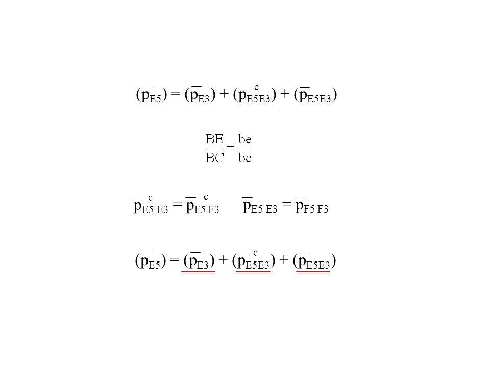 (p E5 ) = (p E3 ) + (p E5E3 ) + (p E5E3 ) c p E5 E3 = p F5 F3 c c (p E5 ) = (p E3 ) + (p E5E3 ) + (p E5E3 ) c