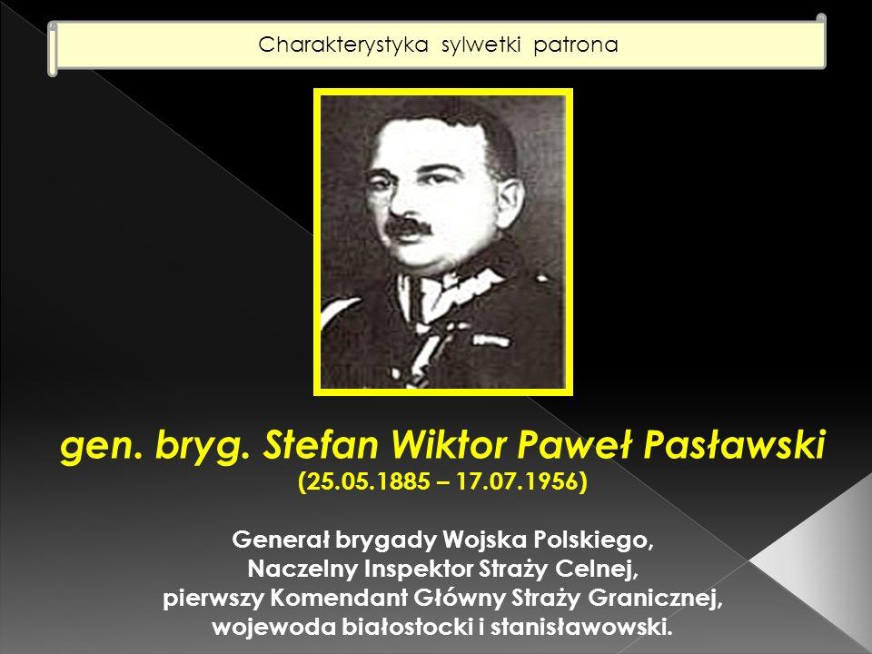 Charakterystyka sylwetki patrona (2) Stefan Wiktor Paweł Pasławski urodził się w dniu 25 maja 1885 roku w Warszawie.