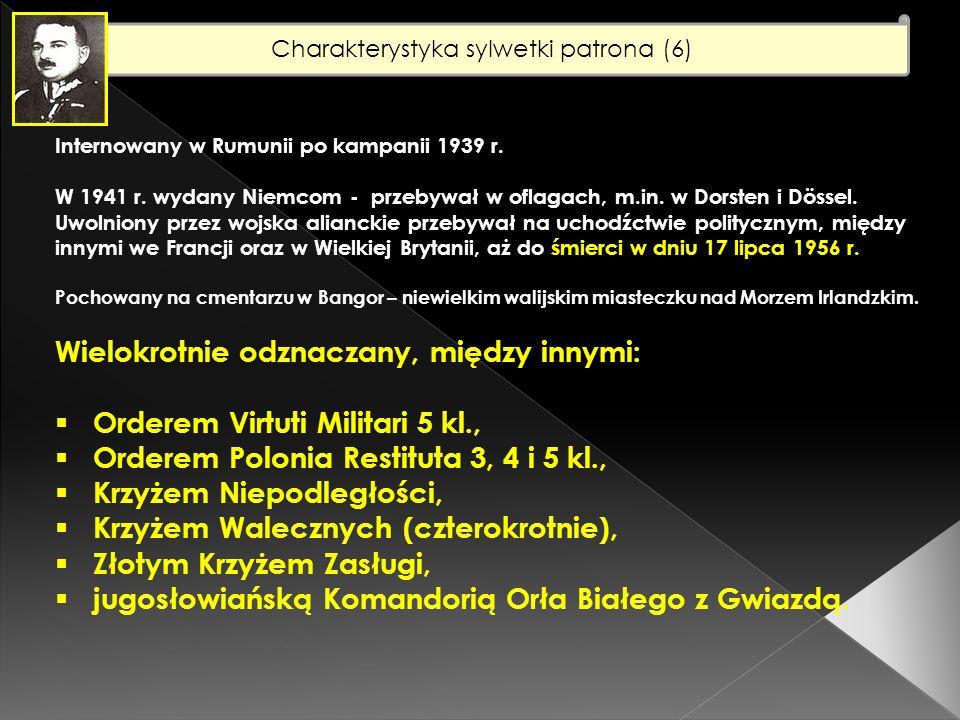Charakterystyka sylwetki patrona (6) Żonaty (1925 r.) z Aleksandrą Judycką.