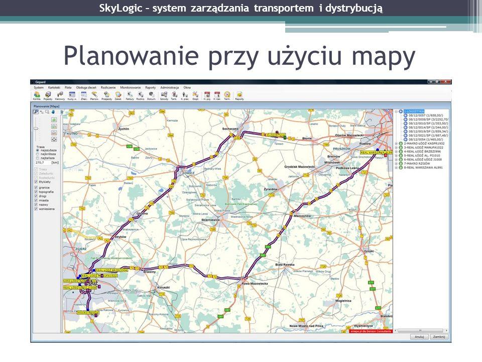 Planowanie przy użyciu mapy SkyLogic – system zarządzania transportem i dystrybucją