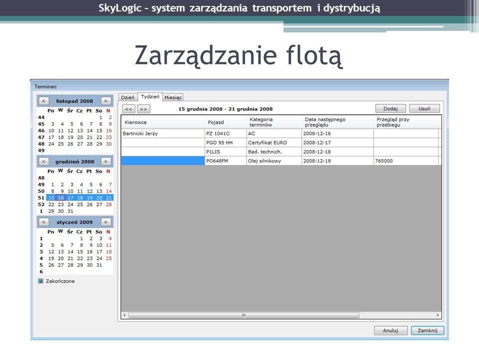 Zarządzanie flotą SkyLogic – system zarządzania transportem i dystrybucją