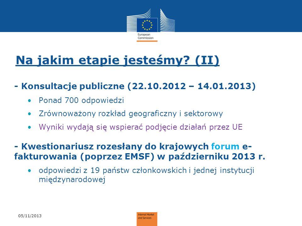 Na jakim etapie jesteśmy? (II) - Konsultacje publiczne (22.10.2012 – 14.01.2013) Ponad 700 odpowiedzi Zrównoważony rozkład geograficzny i sektorowy Wy