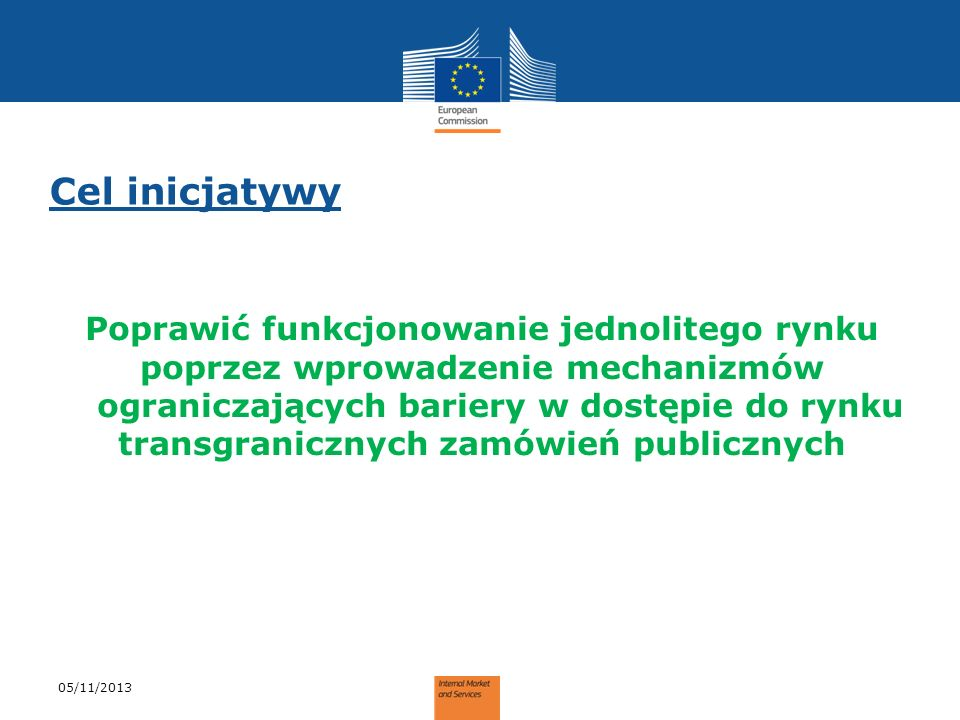 Możliwe opcje 05/11/2013 Interoperable technical solution proposed to the market.