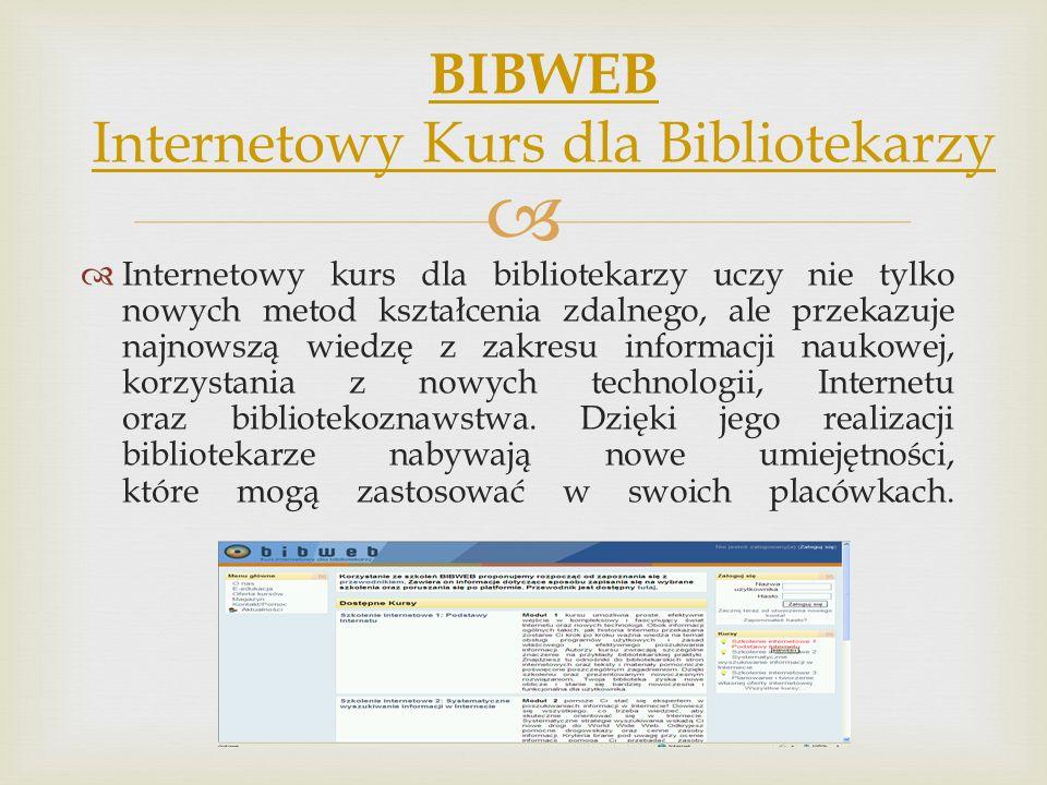 Internetowy kurs dla bibliotekarzy uczy nie tylko nowych metod kształcenia zdalnego, ale przekazuje najnowszą wiedzę z zakresu informacji naukowej, ko