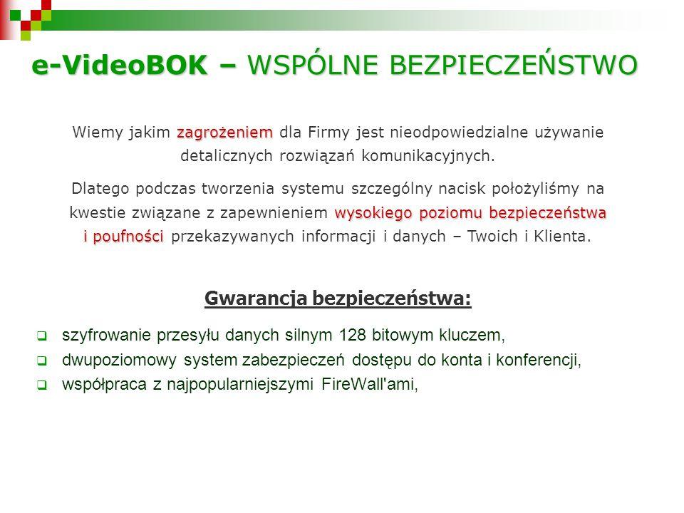 e-VideoBOK – WSPÓLNE BEZPIECZEŃSTWO zagrożeniem Wiemy jakim zagrożeniem dla Firmy jest nieodpowiedzialne używanie detalicznych rozwiązań komunikacyjnych.