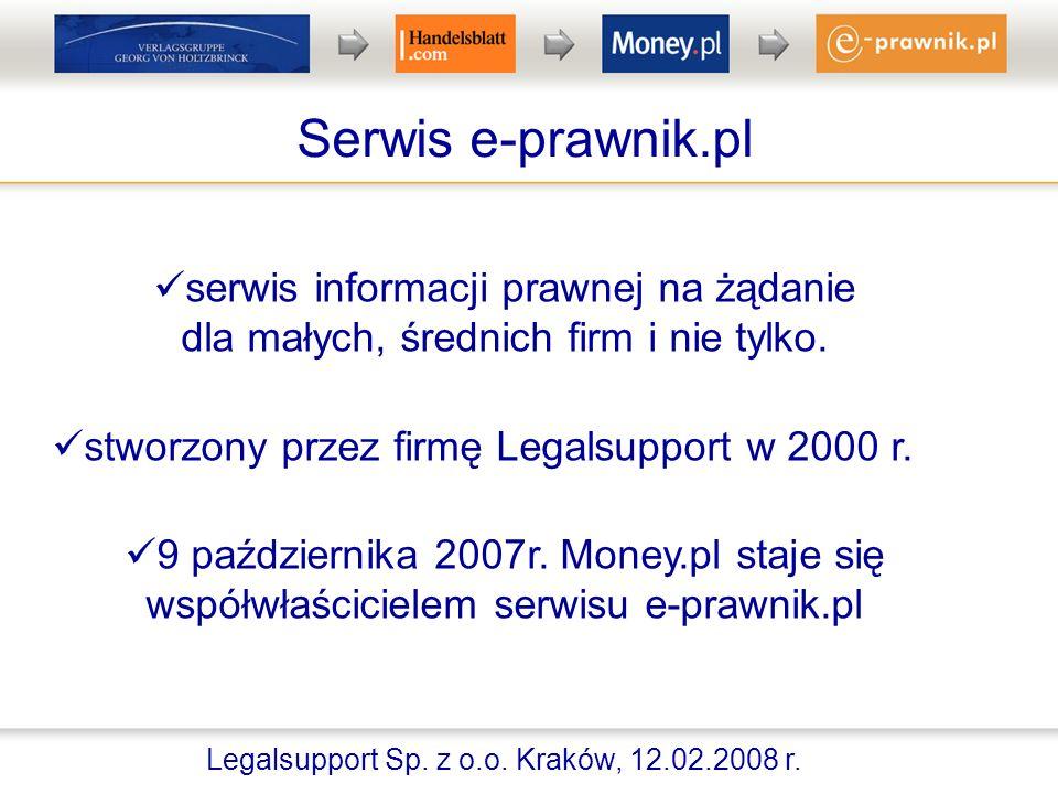 Serwis e-prawnik.pl serwis informacji prawnej na żądanie dla małych, średnich firm i nie tylko.