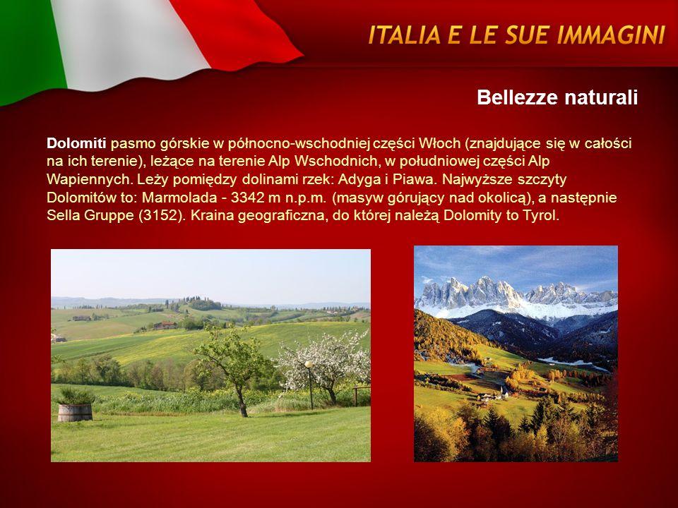 Bellezze naturali Dolomiti pasmo górskie w północno-wschodniej części Włoch (znajdujące się w całości na ich terenie), leżące na terenie Alp Wschodnic