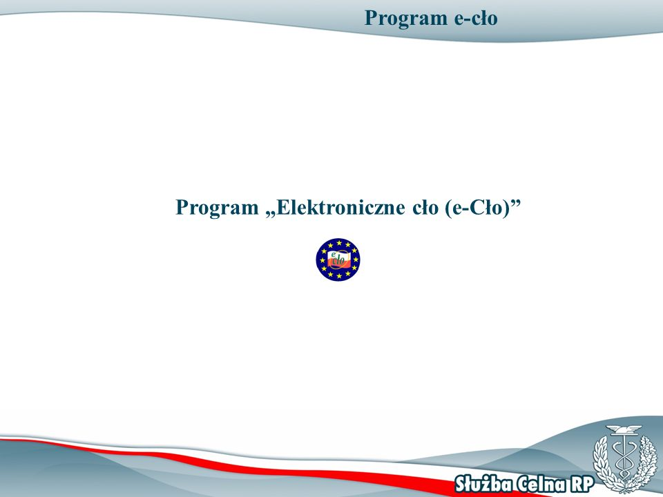 Program e-cło Program Elektroniczne cło (e-Cło)