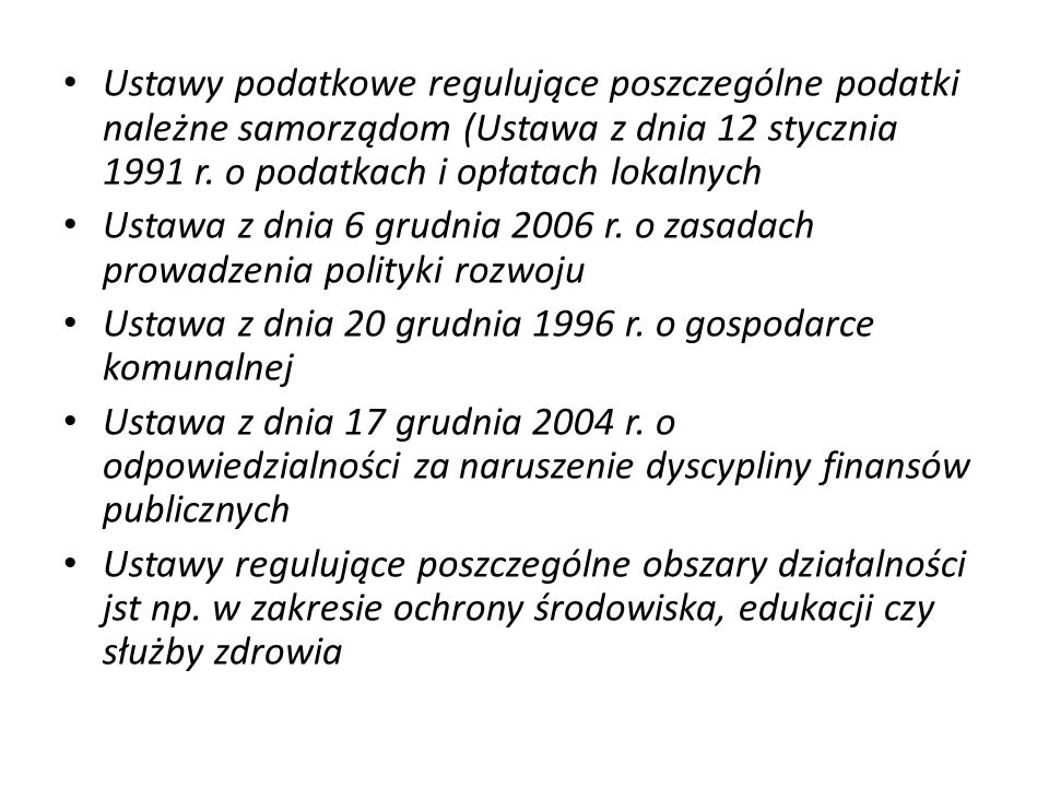 Dochody województwa – art.6 ustawy z dnia 13 listopada 2003 r.