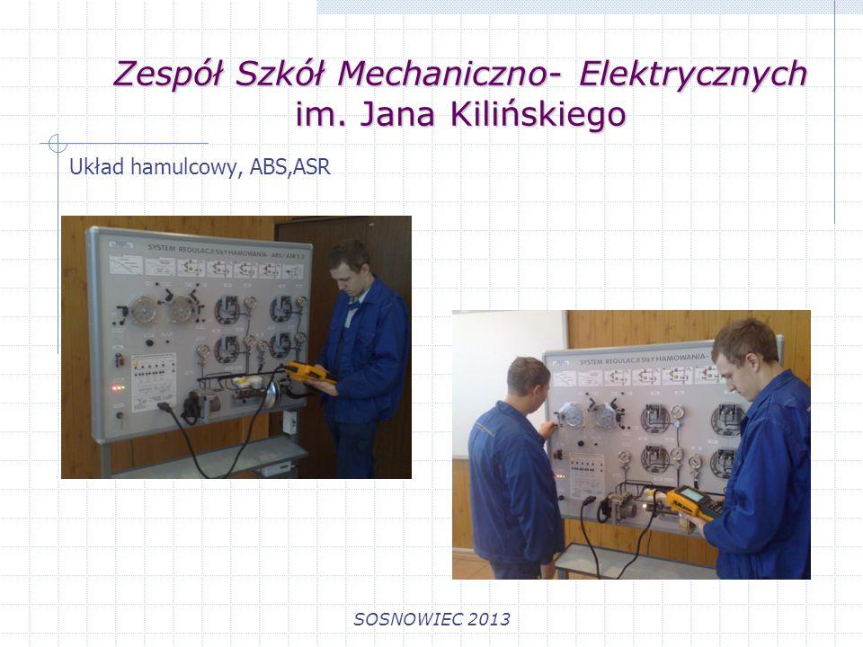 Zespół Szkół Mechaniczno- Elektrycznych im. Jana Kilińskiego SOSNOWIEC 2013 Układ hamulcowy, ABS,ASR