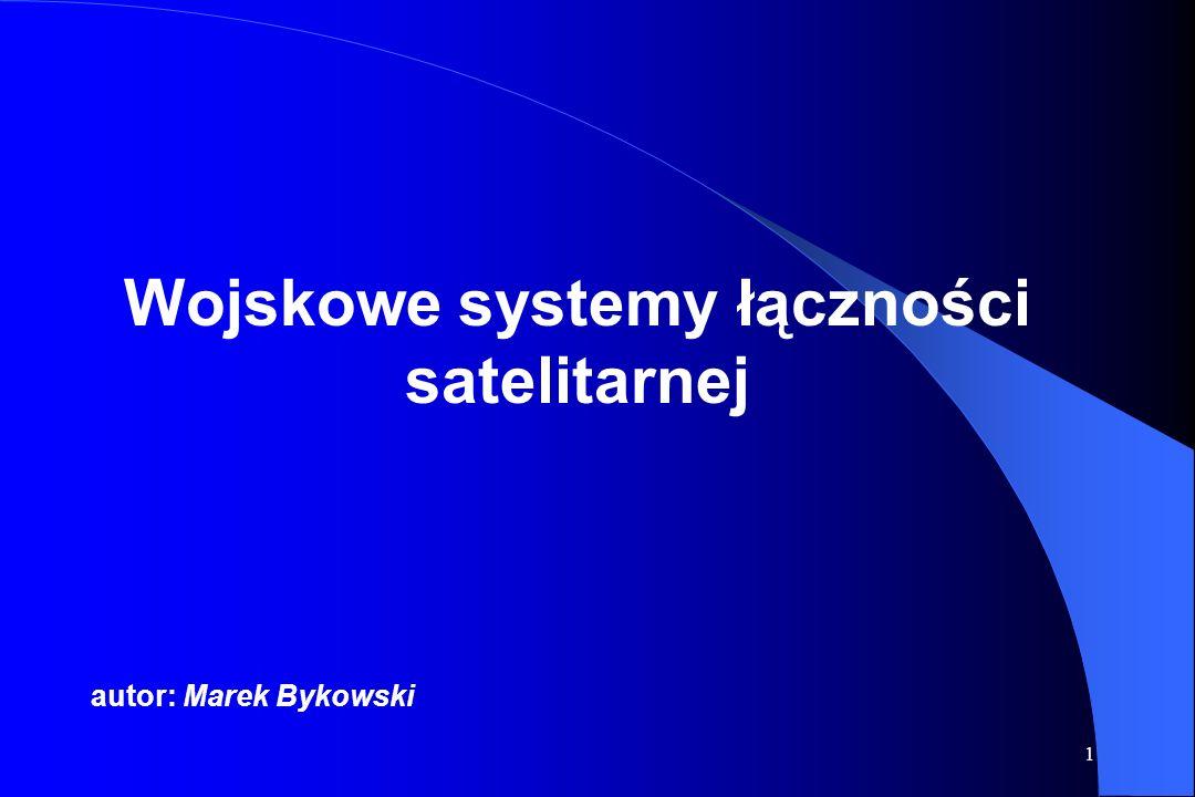 31 Gęstość widma mocy sygnałów zmodulowanych OQPSK i MSK OQPSK: wiązka główna zawiera 92,5 % mocy sygnału listek b.